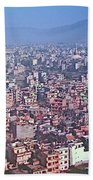 Kathmandu From The Airplane-nepal  Bath Towel