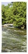 Kayaking On Gull River Bath Towel