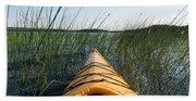Kayaking Through Reeds Bwca Hand Towel