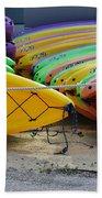Kayaks Stacked Bath Towel