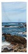 Keanae Coast - The Rugged Volcanic Coast Of The Keanae Peninsula In Maui. Bath Towel