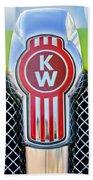 Kenworth Truck Emblem -1196c Hand Towel