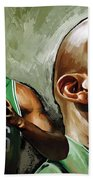 Kevin Garnett Artwork 1 Bath Towel