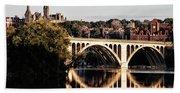 Key Bridge And Georgetown University Washington Dc Hand Towel