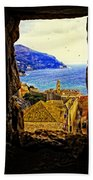 Key Hole View Of Dubrovnik 2 Bath Towel