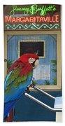 Key West - Parrot Taking A Break At Margaritaville Bath Towel