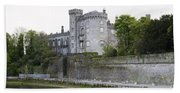 Kilkenny Castle Seen From River Nore Bath Towel