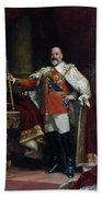 King Edward Vii Of England (1841-1910) Bath Towel