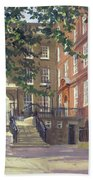 Kings Bench Walk, Inner Temple Oil On Canvas Bath Towel