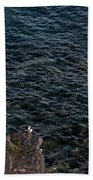 Seagulls At Cliffs Ready To Fish In Mediterranean Sea - Kings Of The World Bath Towel