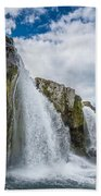 Kirkjufellsfoss Waterfalls, Church Bath Towel