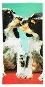 Kiss Me - Cocker Spaniel Art By Sharon Cummings Bath Towel
