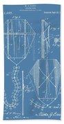 Kite Patent On Blue Bath Towel
