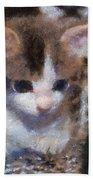 Kitty Photo Art 02 Bath Towel