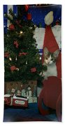 Kitty Says Merry Xmas Bath Towel