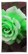 Kiwi Lime Rose Bath Towel