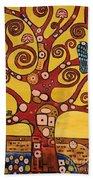 Klimt Study Tree Of Life Bath Towel