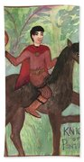 Knight Of Pentacles Hand Towel