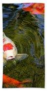 Koi Pond Bath Towel
