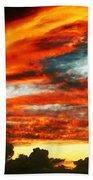 Kona Sunset 77 Lava In The Sky  Bath Towel