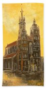 Krakow - Mariacki Church Bath Towel