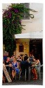 La Dolce Vita At A Cafe In Italy Bath Towel