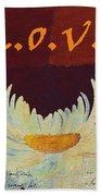 La Marguerite - Love Red Wine  Bath Towel