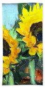 La Peinture Impressionniste De Tournesol Bath Towel