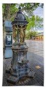 La Rambla Fountain  Bath Towel