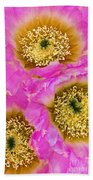 Lace Cactus Flowers Bath Towel