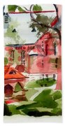 Lacy Spring Greens At Ursuline Academy Bath Towel