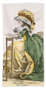 Ladies Elaborate Gown, Engraved Bath Towel