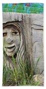 Lady In Wood Bath Towel