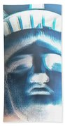 Lady Liberty In Negative Hand Towel