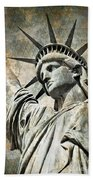 Lady Liberty Vintage Bath Towel