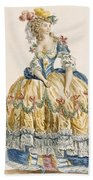 Ladys Elaborate Ball Gown, Engraved Bath Towel