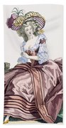 Ladys Elegant Caramel Coloured Satin Bath Towel