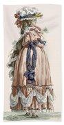 Ladys Summer Walking Gown, Engraved Bath Towel