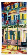Lafitte Guest House At Christmas Hand Towel