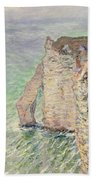 Laiguille And The Porte Daval   Etretat Bath Towel