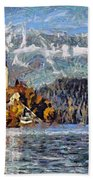 Lake Bled And Mountains Bath Towel
