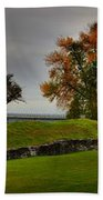 Lake Champlain Crown Point Panorama Bath Towel