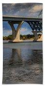 Lake Champlain Tied Arch Bridge Bath Towel