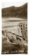 Lake Hodges And Dam San Diego County California  1952 Bath Towel