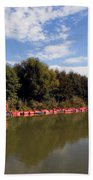 Lake Inlet With Dredger Bath Towel