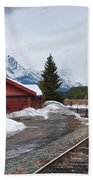 Lake Louise Depot Bath Towel
