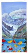 Lake Louise Poppies Hand Towel