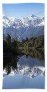 Lake Matheson New Zealand Bath Towel