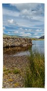 Lake Stone Wall Bath Towel