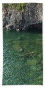 Lake Superior Cliff Scene 7 Bath Towel